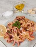 Fried Octopus Royalty Free Stock Photos