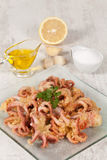 Fried Octopus Royalty Free Stock Images