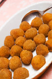 Fried olives Royalty Free Stock Photography