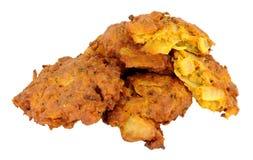 Fried Onion Bhajis Stock Images
