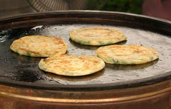 Fried Onion Patties Stock Images