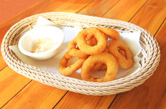 Fried onion ring Stock Image