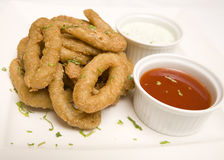 Fried Onion rings Stock Photography