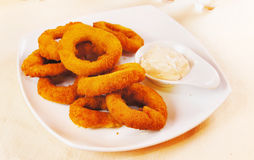 Fried onion rings Royalty Free Stock Photos