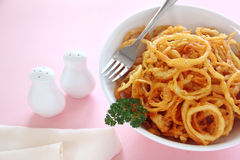 Fried Onion Rings Stock Photos