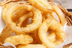 Fried onion rings Stock Images