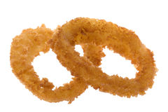 Fried Onion Rings Isolated Royalty Free Stock Photos