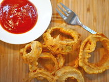 Fried onion rings Stock Image