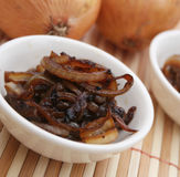 Fried onions Royalty Free Stock Image