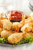 Fried Organic Coconut Shrimp immagini stock