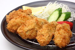 Fried oyster, Japanese food Royalty Free Stock Image