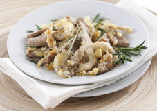 Fried oyster mushrooms Stock Image