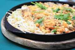 Fried Oyster Omelette Recipe stock photography