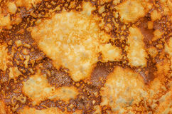 Fried pancake. Fried pancake yellow closeup on the entire frame Royalty Free Stock Images