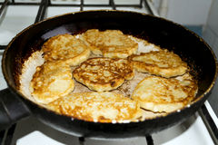 Fried pancakes Stock Photography