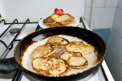 Fried pancakes Stock Image