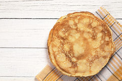 Fried pancakes on table Royalty Free Stock Images