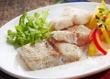Fried pangasius fish fillet pieces Stock Photography
