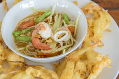 Fried Papaya Salad Recipe Royalty Free Stock Image