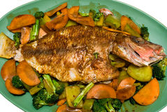 Free Fried Pargo Royalty Free Stock Image - 3506076