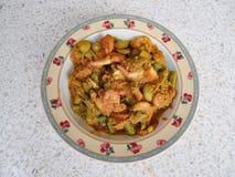 Fried parkia with shrimp Royalty Free Stock Photo