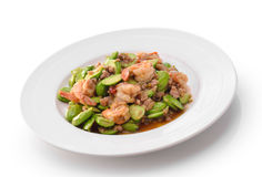 Fried Parkia wth shrimp Stock Photos