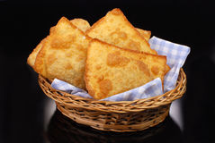 Fried Pastel in black background Royalty Free Stock Photo