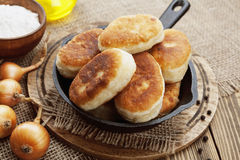 Fried pasties Stock Images