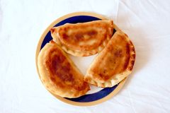 Fried pasties on a plate Royalty Free Stock Image