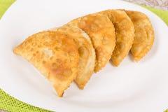 Fried pasties Stock Photos