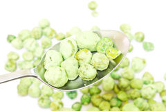 Fried pea seeds, wasabi flavor Stock Image