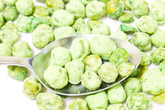Fried pea seeds, wasabi flavor Royalty Free Stock Image