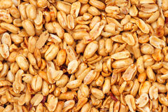 Fried peanut kernels. The background of fried peanut kernels Stock Photos
