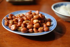 Fried peanuts in a chinese restaurant. Stock Photography