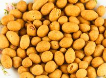Fried Peanuts. Peanuts coffee flavour coated as snack Royalty Free Stock Photos