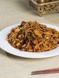 Fried Penang Char Kuey Teow royaltyfri bild