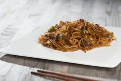 Fried Penang Char Kuey Teow arkivfoton