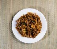 Fried Penang Char Kuey Teow arkivfoto