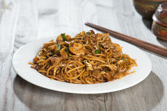 Fried Penang Char Kuey Teow stock images
