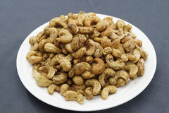 Fried pepper cashews. Fried pepper cashewnuts from India Stock Images