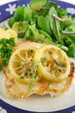 Fried Perch With Lemon Royalty Free Stock Image