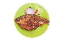Fried pickled fish Royalty Free Stock Photo