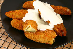 Fried Pickles Royalty Free Stock Image