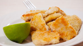 Fried pieces of fish fillets Stock Photography