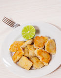 Fried pieces of fish fillets Stock Image