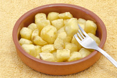 Fried pieces of potatoes Royalty Free Stock Photo