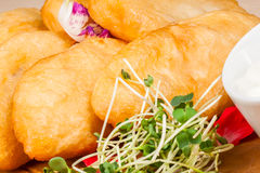Fried pies. Close up Royalty Free Stock Photography