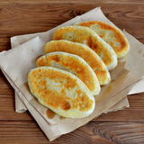 Fried pies closeup. Stock Photo