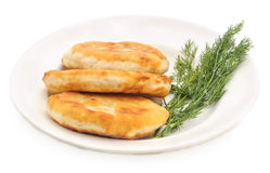 Fried pies with herbs. Stock Images