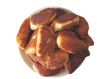 Fried pies on a plate Stock Photography